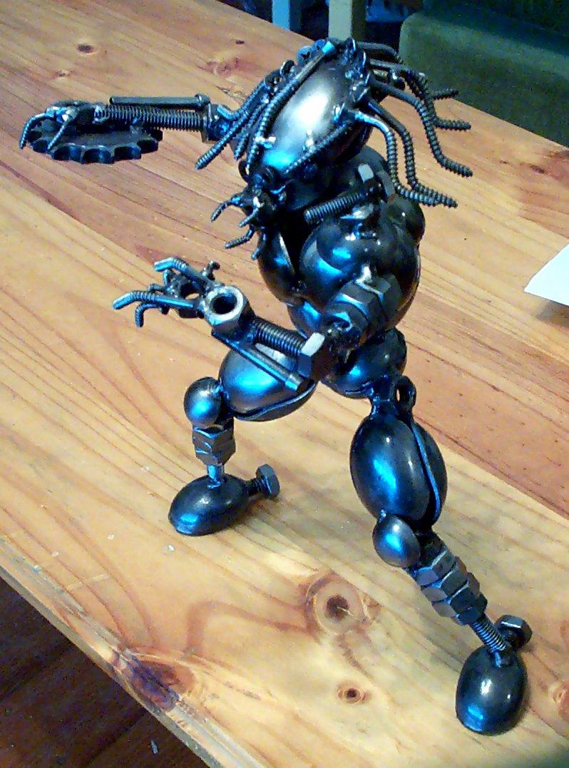 Kick Ass Junk Metal Sculpture